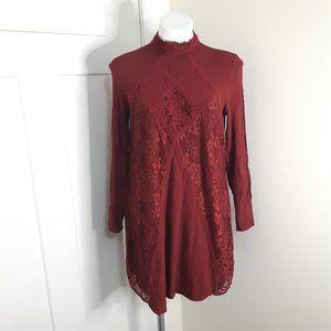 Xhilaration Size Medium Maroon Mini Dress